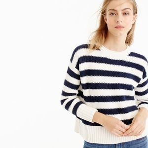 {J.Crew} NWT Textured Striped Sweater